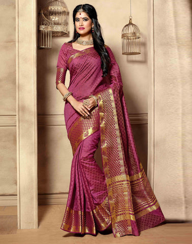 Maroon Color Tussar  Saree