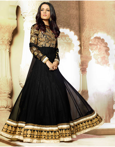 Black Color Georgette Anarkali Salwar Kameez