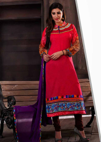 Multi Colour Cotton Salwar Kameez