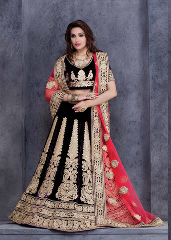 Black Color Viscose Lehenga Choli