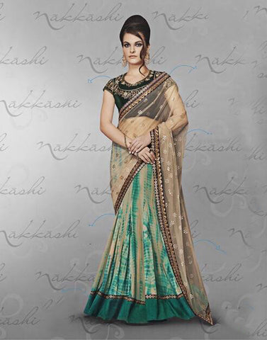 Beige Color  Georgette Saree