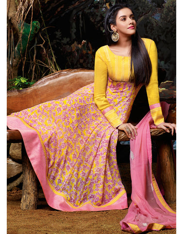 Yellow Color Georgette Salwar Kameez