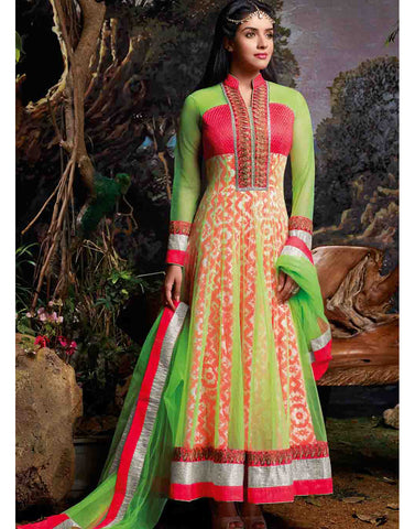 Green Color Cotton Salwar Kameez