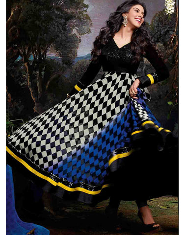 Black Color Georgette Salwar Kameez