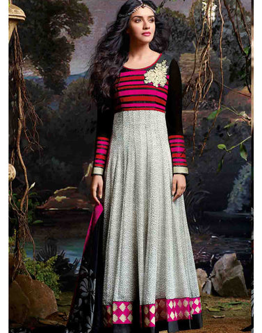 Grey Color Georgette Salwar Kameez