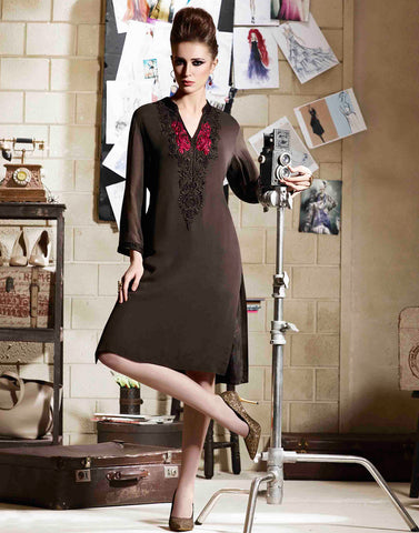 Black colour  Georgette Kurtis