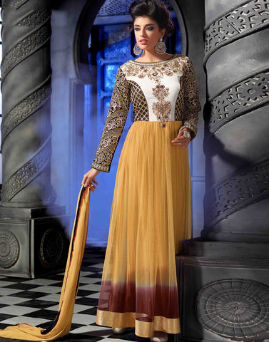 Beige Color Georgette Salwar Kameez