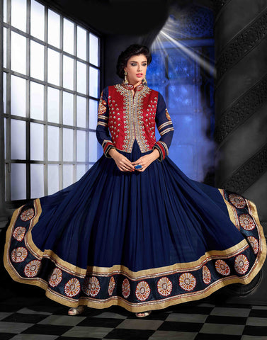 Blue Color Georgette Salwar Kameez