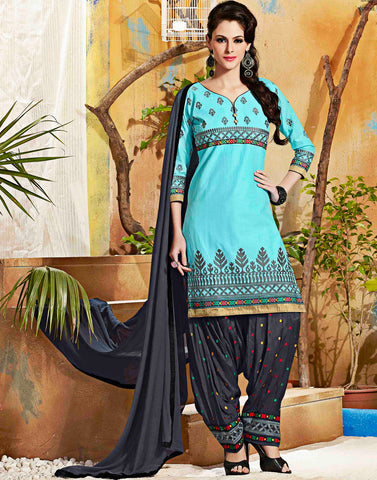 Aqua Color Salwar Kameez