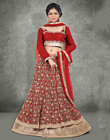 Maroon Color Net Lehenga Choli
