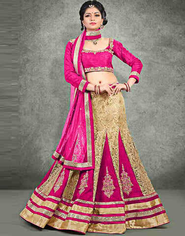 Beige Color Net Lehenga Choli