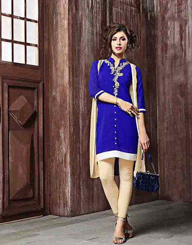 Blue Color Georgette Kurtis