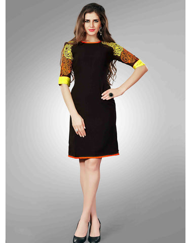Black Color Georgette Kurtis