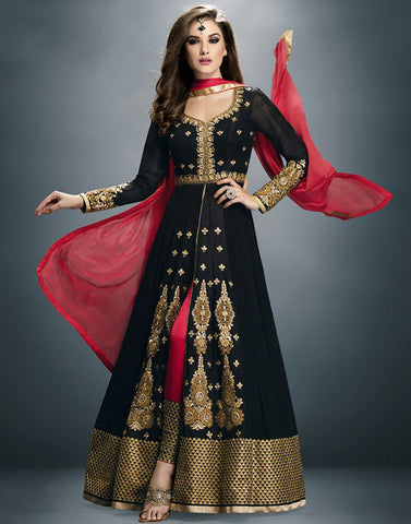 Black Color Georgette Anarkali Suit