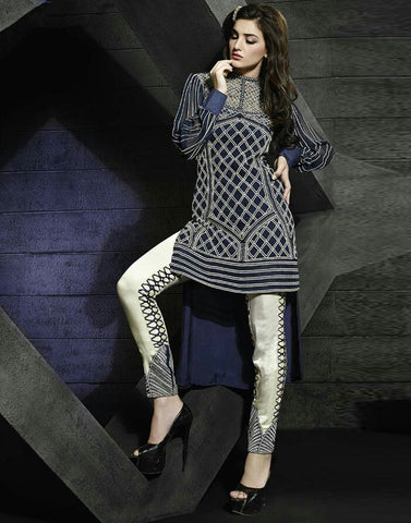 Navy Color Georgette Salwar Kameez