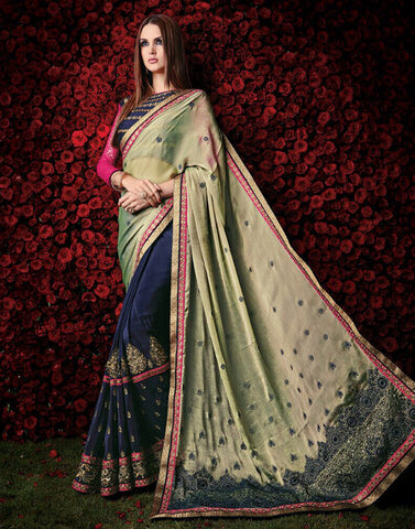 Navy Color Chiffon Saree