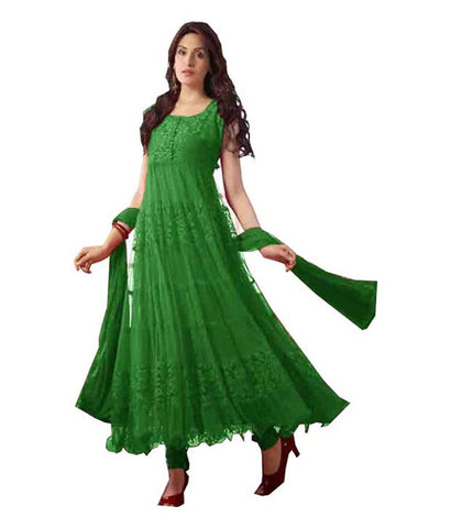 Green Color Brasso Fashionic Party Dress