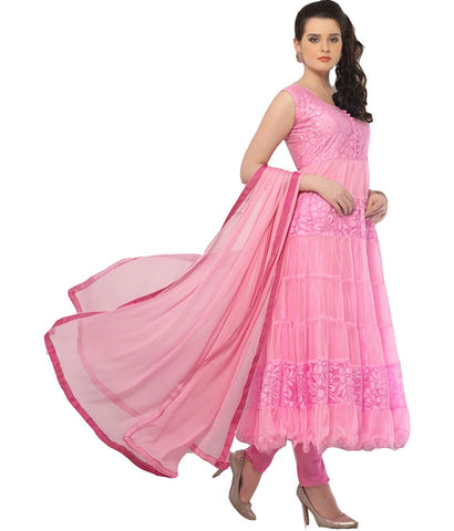 Pink Color Brasso Fashionic Party Dress