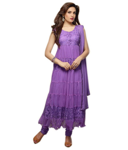 Purple Color Brasso Fashionic Party Dress