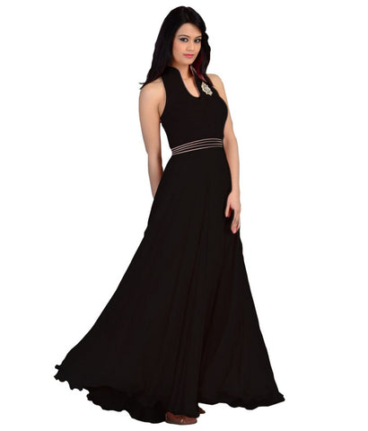 Black Color Velvet Fashionic Party Gown