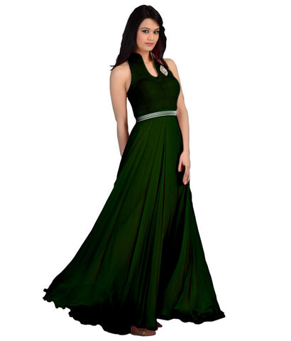 Green Color Velvet  Fashionic Party Gown