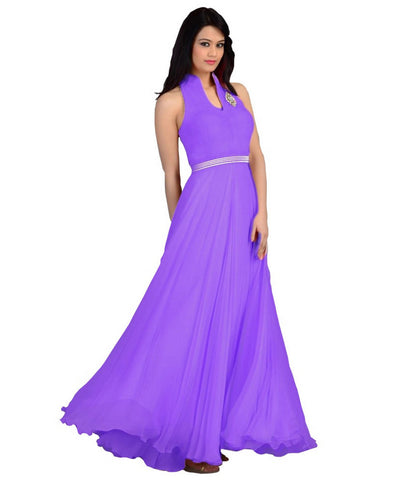 Purple Color Velvet  Fashionic Party Gown