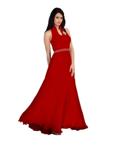 Red Color Velvet  Fashionic Party Gown