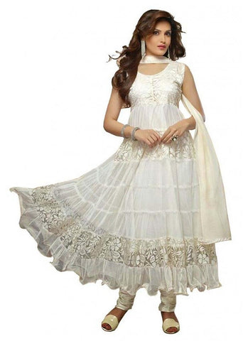 White Color Brasso Fashionic Party Dress