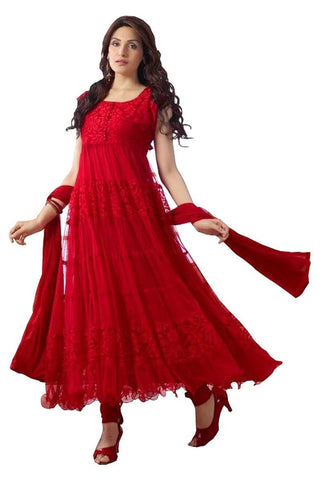 Red Color Brasso Fashionic Party Dress