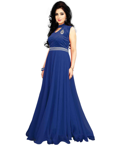 Blue Color Georgette Gown