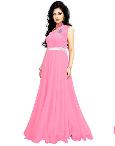 Pink Color Georgette Gown
