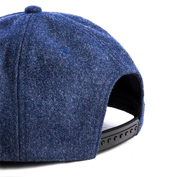 Wool Hats - Navy Flat Brim