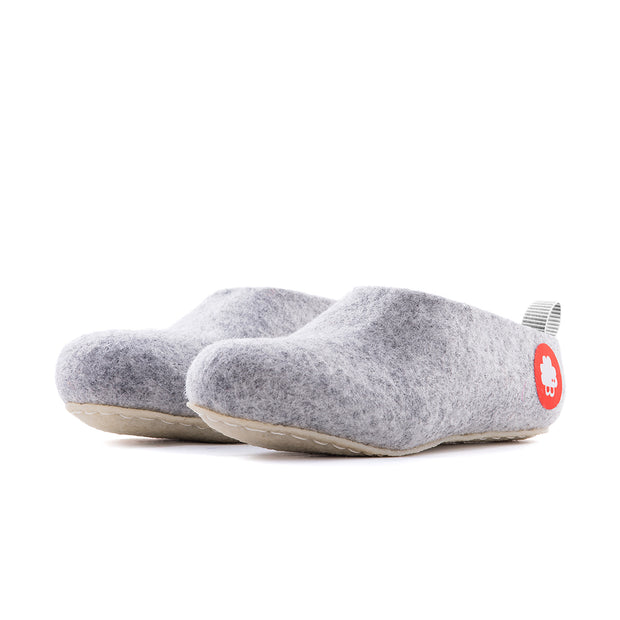 Gus - Light Grey - Baabuk wool footwear