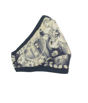 Adult Cotton Face Mask + D15 Mask Filter - Charcoal Floral - Lonzi&Bean Maternity