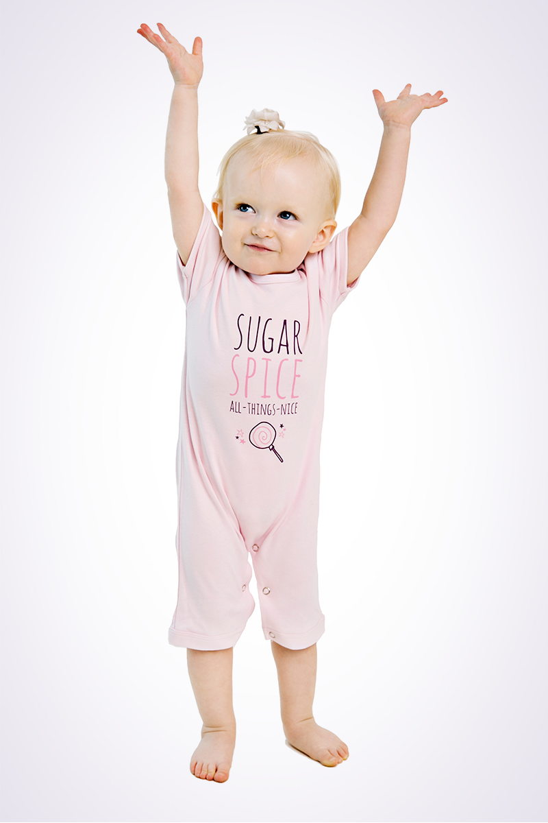 pink girls romper