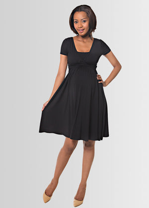 UltiMum Maternity & Feeding Dress Short Sleeved - Black - Lonzi&Bean Maternity