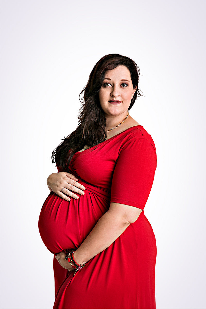 The CurvyMum Maxidress - Cherry - Lonzi&Bean Maternity