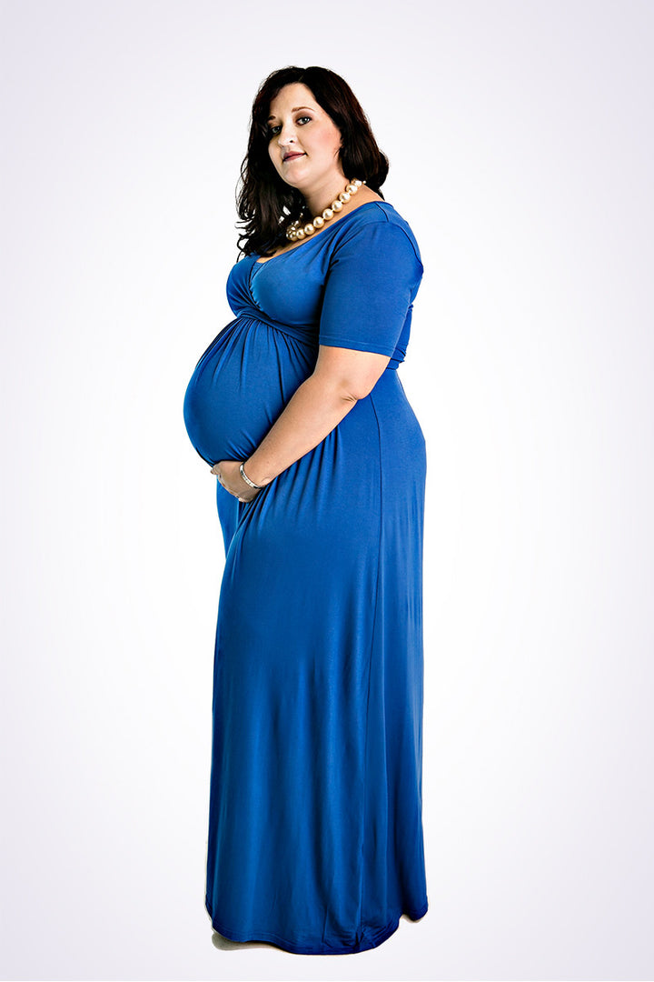 The CurvyMum Maxidress - Cobalt