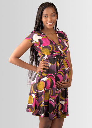 UltiMum Maternity & Breastfeeding Dress Short Sleeved - Ltd Edition Confetti - Lonzi&Bean Maternity