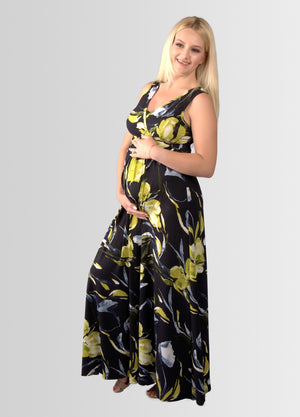 MaxiMum Maternity & Feeding Dress - Ltd Edition Strelitzia - Lonzi&Bean Maternity