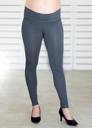 ComfiMum Maternity Leggings – Charcoal - Lonzi&Bean Maternity