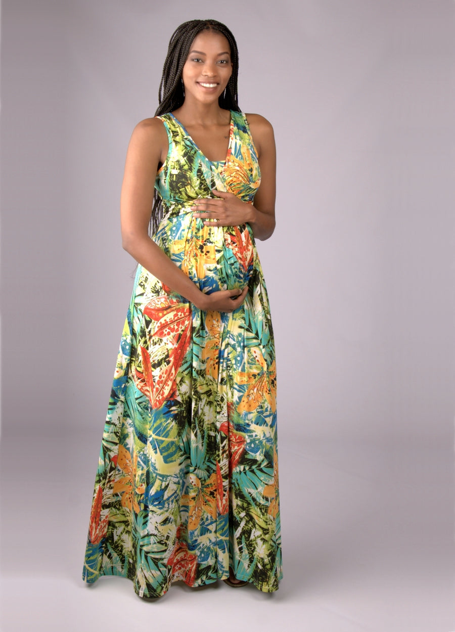 MaxiMum Maternity & Feeding Dress - Ltd Edition Rainforest - Lonzi&Bean Maternity