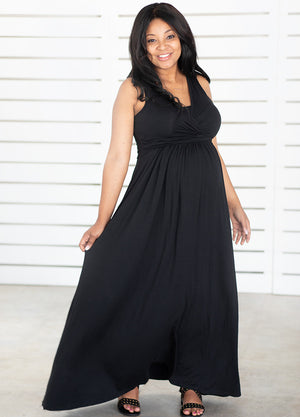 MaxiMum Dress - Black - Lonzi&Bean Maternity