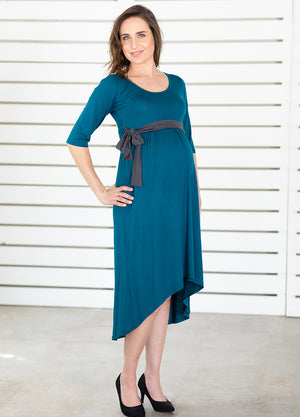 Hi-Lo Maternity Dress - Ocean&Charcoal - Lonzi&Bean Maternity