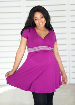 The CurvyMum Tunic - Berry & Rose - Lonzi&Bean Maternity