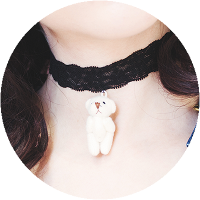 BEARY NICE choker | lace black