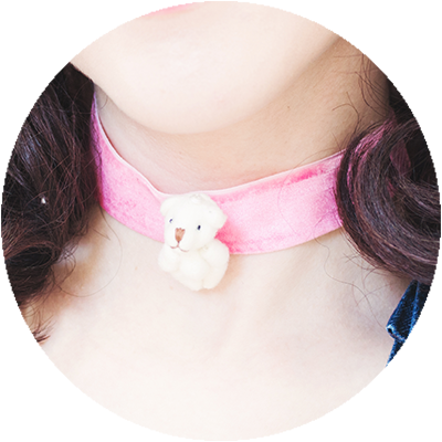 BEARRIFIC choker | sugar pink
