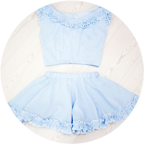 POWDER ruffle set | BLUE