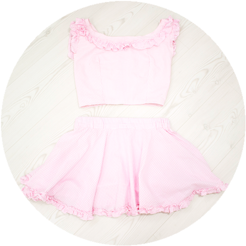 POWDER ruffle set | PINK