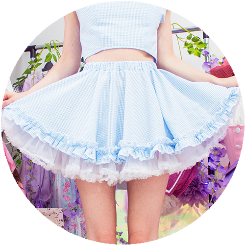 POWDER ruffle skirt | BLUE